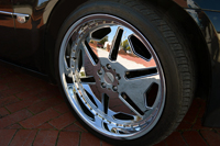 Wheel of our limousine for wedding car hire in Melbourne